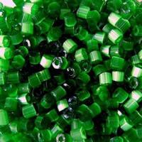 Бісер чеська рубка 55041 сатин зелений, розмір 10/0 (упаковка 50грам)