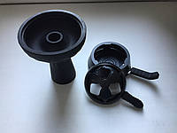 Комплект чёрный калауд лотус с 2-мя ручками + силиконовая чаша фанэл с пазом
