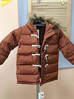 Зимняя парка, утеплитель синтепон+пух  , Final Sale -40%, размеры:  130см