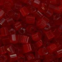 Бісер чеська рубка 95081 сатин червоний, розмір 10/0 (упаковка 50грам)