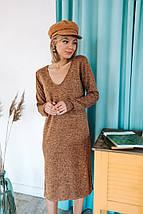 """Ангоровое платье прямого кроя """"Torrens"""" с разрезами и длинным рукавом (3 цвета), фото 3"""