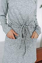 """Приталенное ангоровое мини-платье """"KISS"""" с карманами (4 цвета), фото 3"""