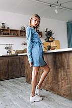 """Приталенное ангоровое мини-платье """"KISS"""" с карманами (4 цвета), фото 2"""