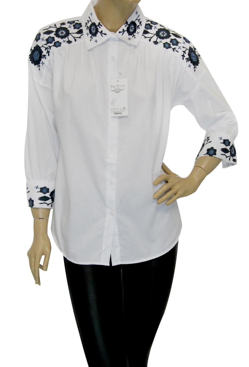 Рубашки с вышивкой женские