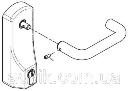 Внешняя нажимная ручка Geze OAD 100 L EC с европрофильным полуцилиндром*