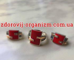 Гарнитур из серебра с золотом и красным кораллом