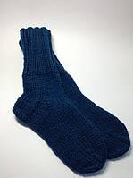 Носки вязаные (20% шерсть) цвет темно-бирюзовый