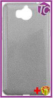 Чехол-накладка TOTO TPU Case Rose series 3 IN 1 Huawei Y5 2017 Silver