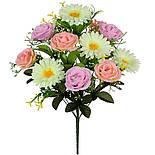 Букет роз и ромашек, 54см (10 шт в уп.), фото 2