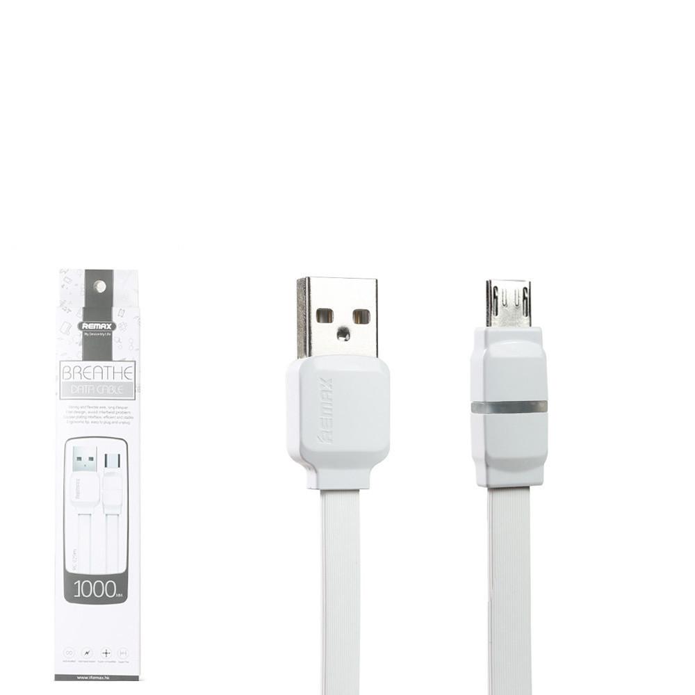 USB кабель Remax Breathe RC-029m MicroUSB 1m White