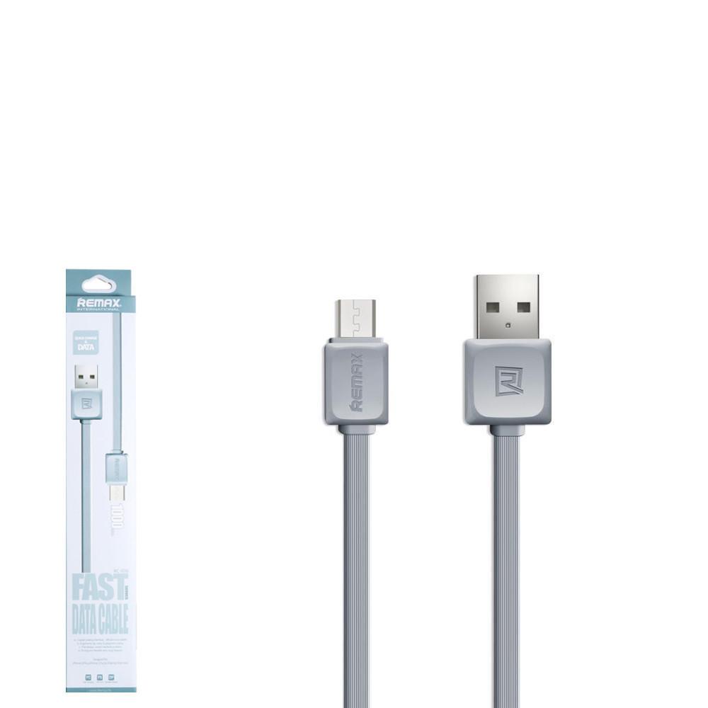 USB кабель Remax Fast RC-008m MicroUSB 1m Grey