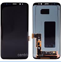 Дисплей (экран) для Samsung G950F Galaxy S8 (2017) + тачскрин, цвет черный, Midnight Black, оригинал
