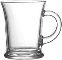 Большая стеклянная чашка 385 мл для чая, какао, глинтвейна UniGlass Aroma