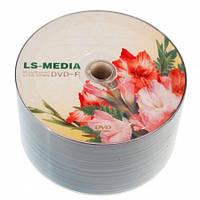 LS-MEDIA DVD-R 4.7Gb 16x bulk 50 ГЛАДИОЛУСЫ