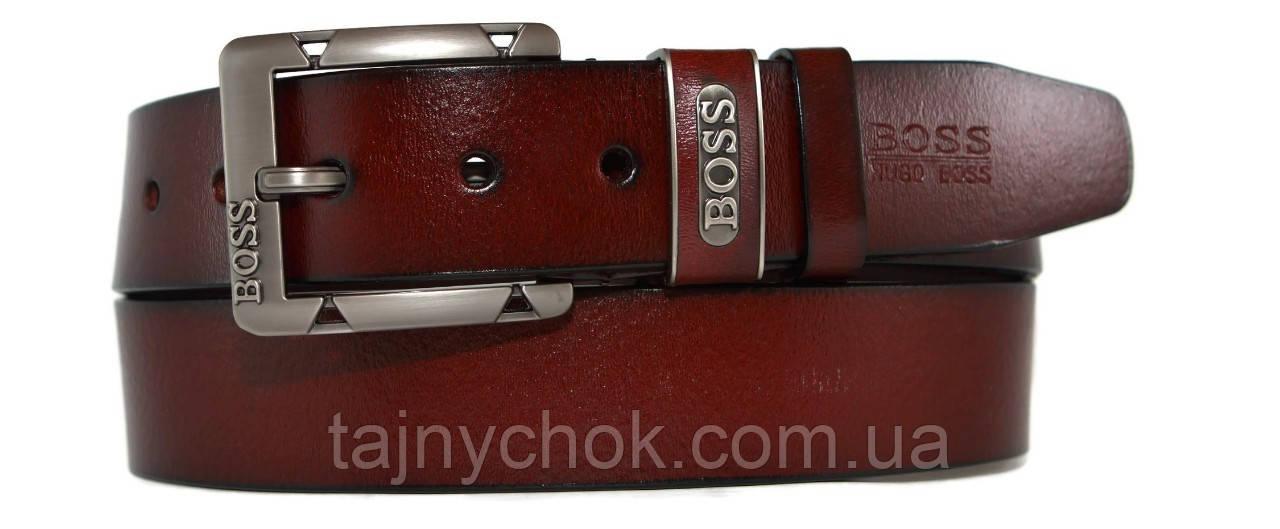 Кожаный мужской ремень 40 мм Boss