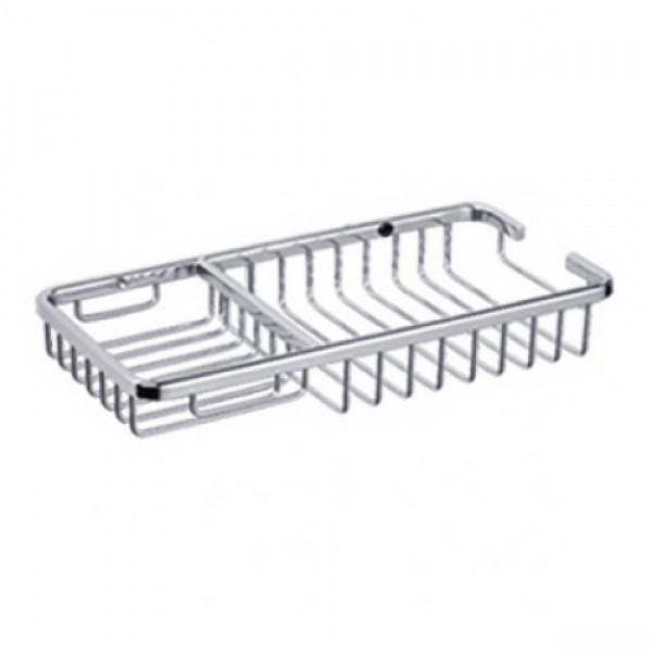 Полка-решетчатая в ванную комнату (метал.) (25*13 CM) Potato