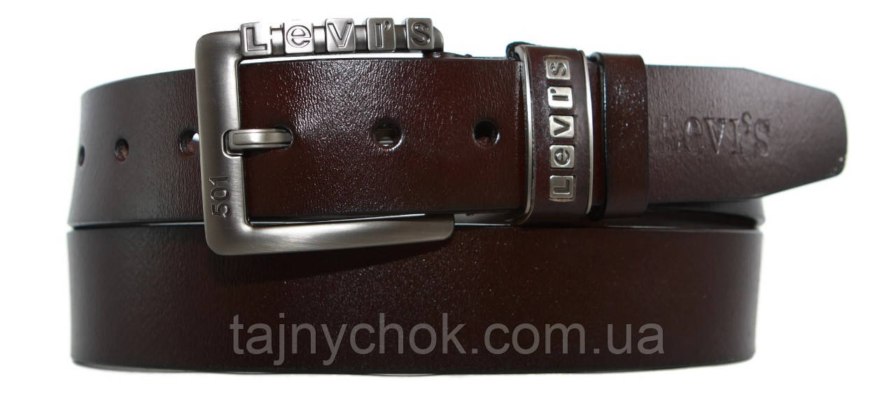 Кожаный мужской ремень 40 мм Levi's