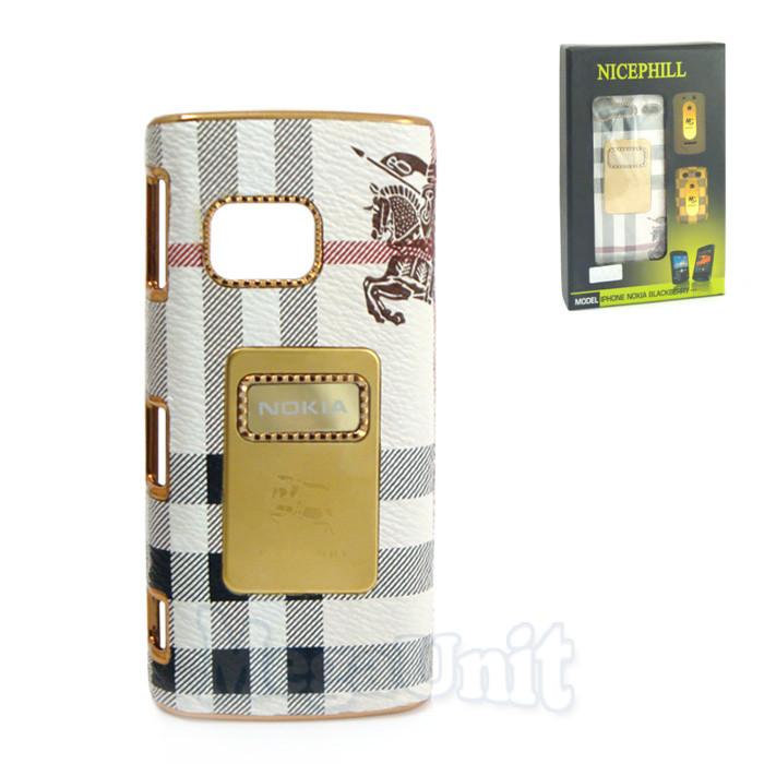 Nicephill Гламурный чехол для Nokia X6 #Burberry white