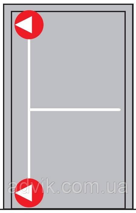 Антипаніка Dorma PHA 2000 для 1-стулкових дверей з горизонтальним 2-точковим замиканням без зовнішньої ручки