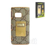 Nicephill Гламурный чехол для Nokia X6 #Gucci gray