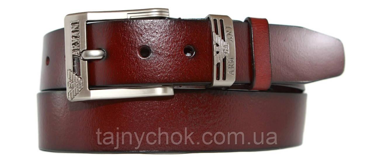 Кожаный мужской ремень 40 мм Armani