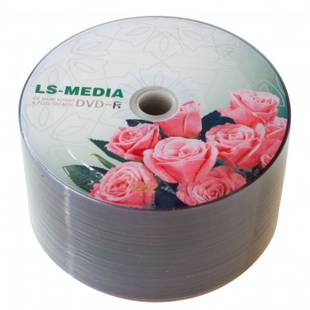 LS-MEDIA DVD-R 4.7Gb 16x bulk 50 РОЗЫ