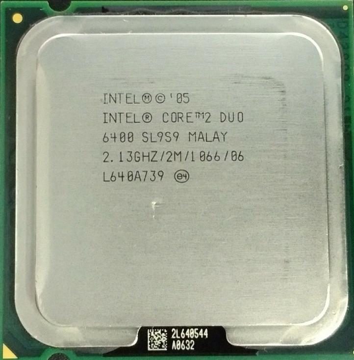 Процессор Intel Core 2 Duo E6400 2.13GHz/2M/1066 (SL9S9) s775, tray