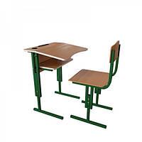 Парта со стул регулируемые по высоте ПШ 116 для начальной школы