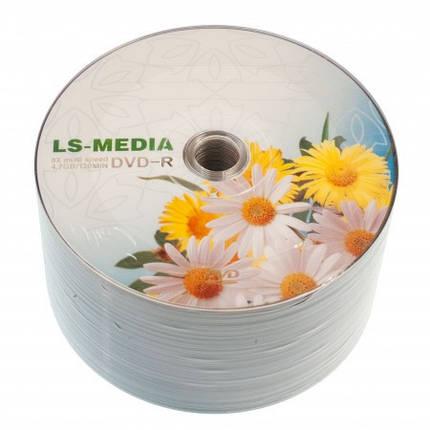 LS-MEDIA DVD-R 4.7Gb 16x bulk 50 РОМАШКИ, фото 2