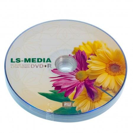 LS-MEDIA DVD+R 4.7Gb 16x bulk 10 ГЕРБЕРЫ