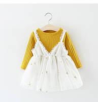 Комлект на весну, модное платье + кофта  Акция! Последний размер:  104см-110см