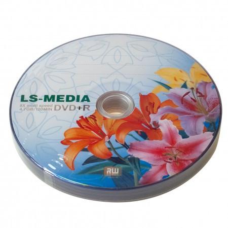 LS-MEDIA DVD+R 4.7Gb 16x bulk 10 ЛИЛИИ