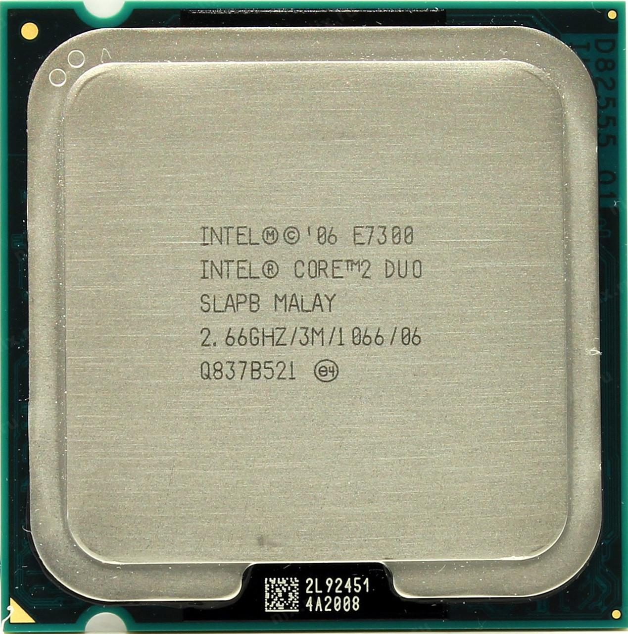Процессор Intel Core 2 Duo E7300 2.66GHz/3M/1066 (SLAPB) s775, tray