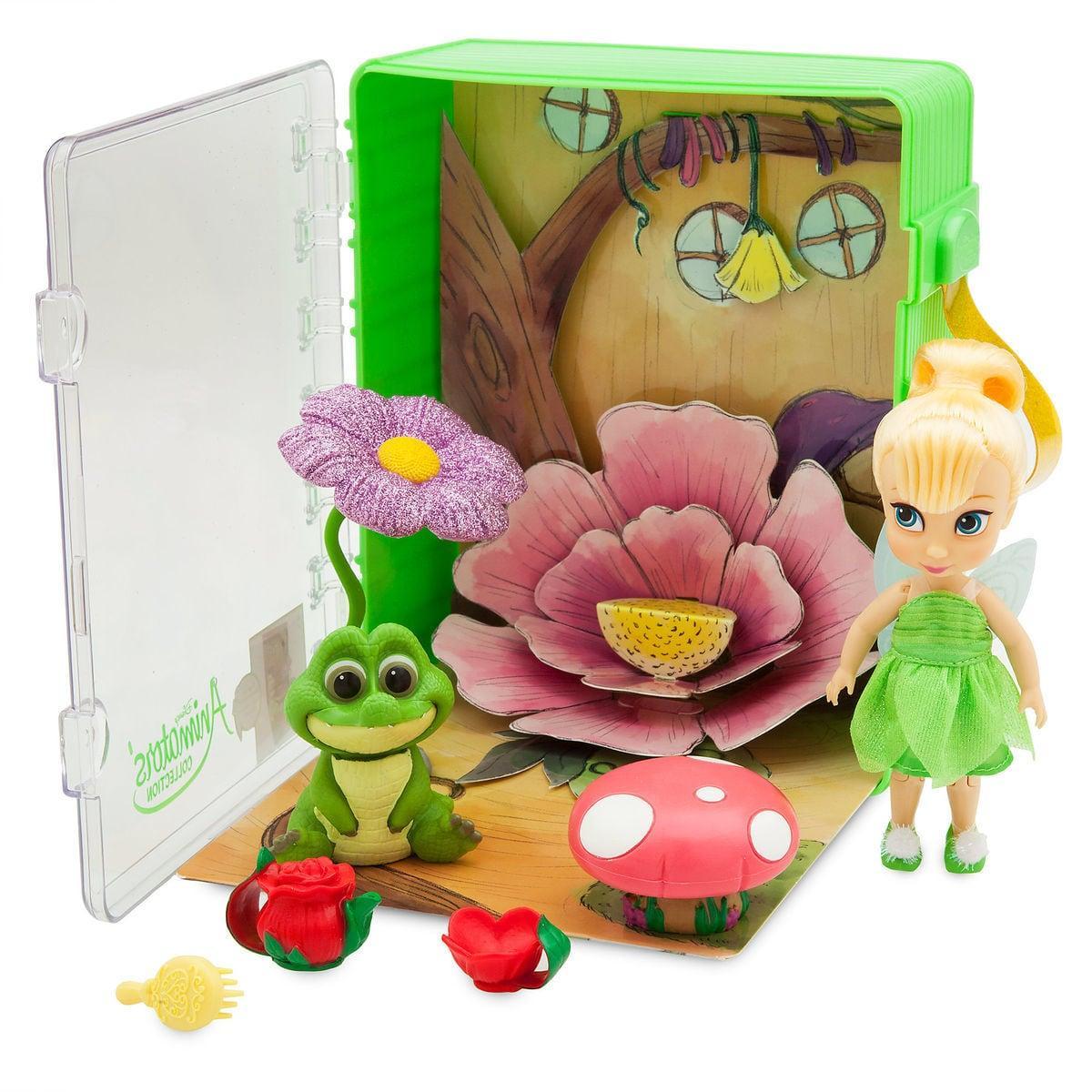 Disney animators мини аниматоры Фея Динь Динь в чемоданчике Tinker Bell collection mini doll play set