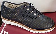 Туфли женские на плоской подошве из натуральной кожи от производителя модель АР254с