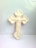 Крест православный белый, керамика