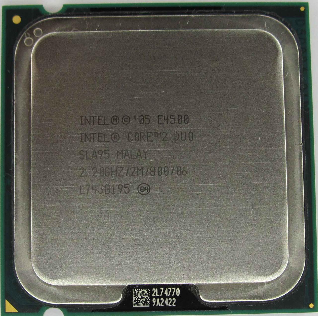 Процессор Intel Core 2 Duo E4500 2.20GHz/2M/800 (SLA95) s775, tray