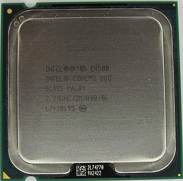 Процессор Intel Core 2 Duo E4500 2.20GHz/2M/800 (SLA95) s775, tray