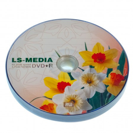 LS-MEDIA DVD+R 4.7Gb 16x bulk 10 НАРЦИСЫ