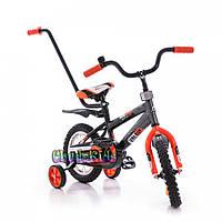 """Детский велосипед Azimut Stitch Premium-12"""" (с родительской ручкой)"""