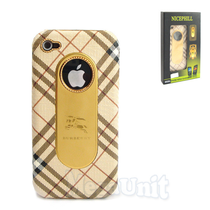 Nicephill Гламурный чехол для Apple iPhone 4 #Burberry begue