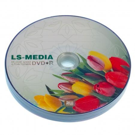 LS-MEDIA DVD+R 4.7Gb 16x bulk 10 ТЮЛЬПАН