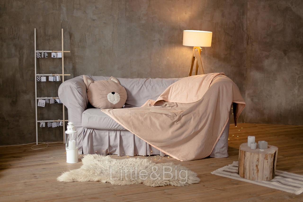 Комплект детский плед  с подушкой Кошечка S