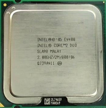 Процессор Intel Core 2 Duo E4400 2.00GHz/2M/800 (SLA98) s775, tray