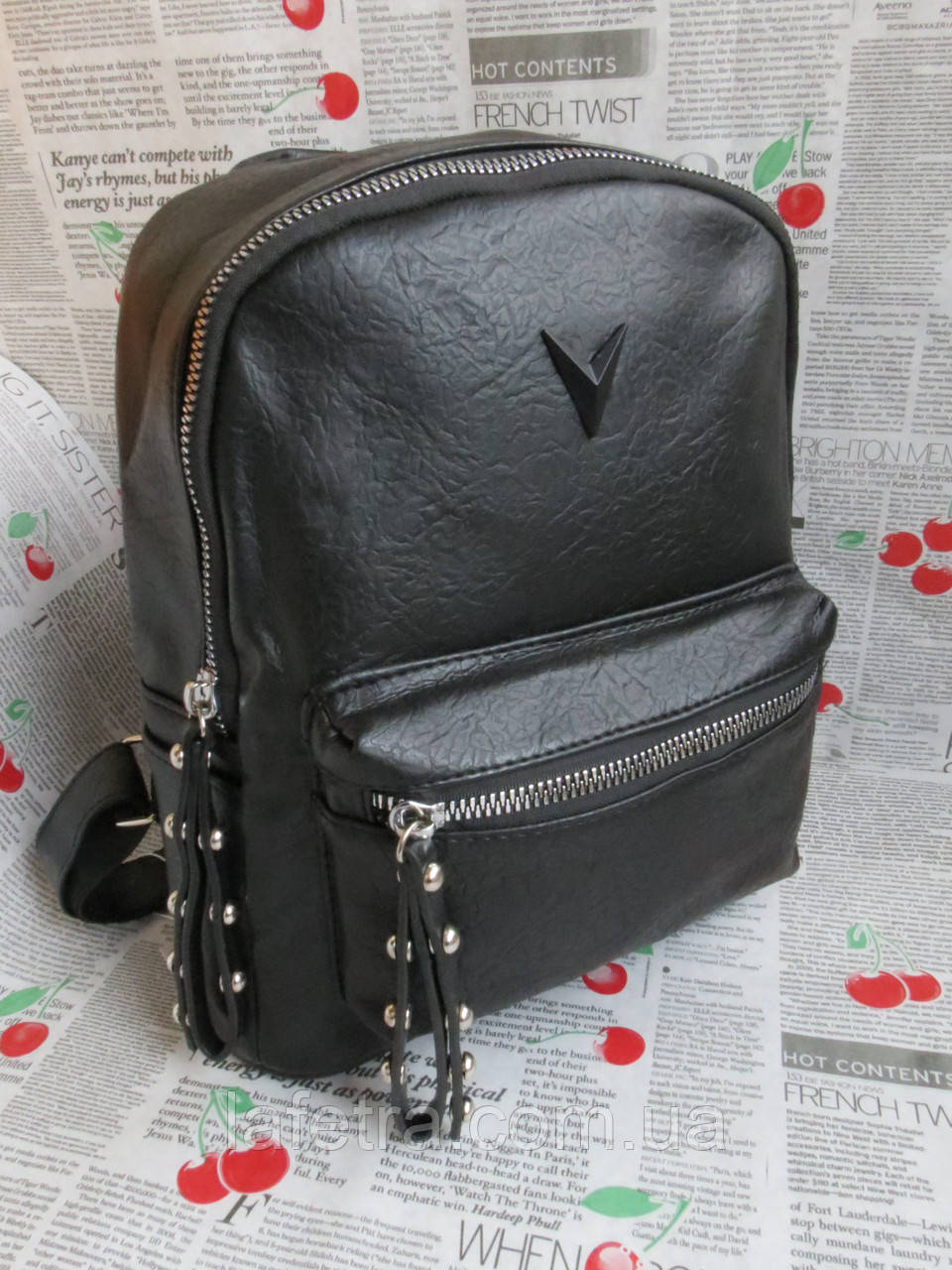 e2fdf01622b0 Рюкзак Женский Черный Искусственная Кожа — в Категории