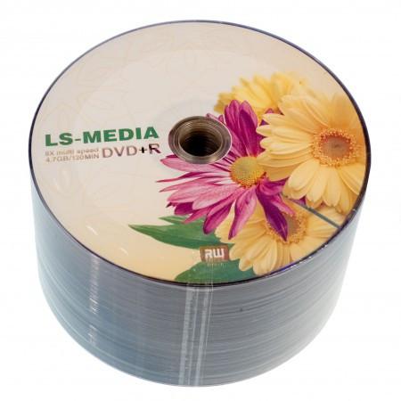 LS-MEDIA DVD+R 4.7Gb 16x bulk 50 ГЕРБЕРЫ
