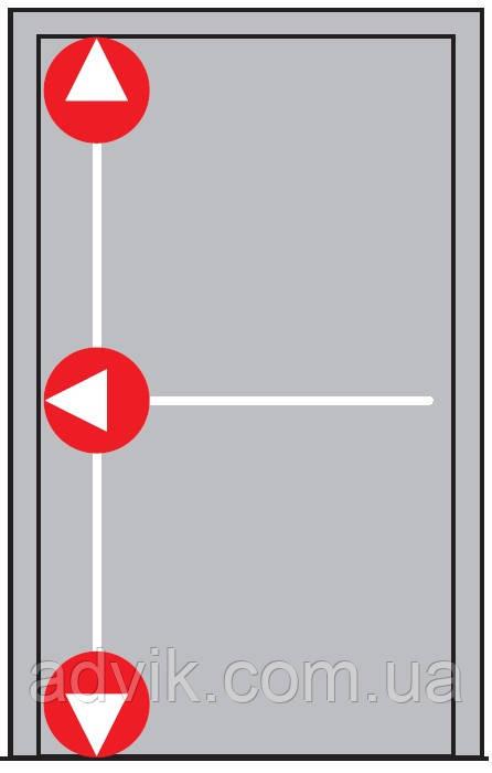 Антипаника Dorma PHA 2000 для 1-створч. двери с горизонт. 1-точ. и вертик. 2-точ. запиранием без внешней ручки