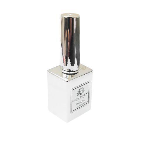 Универсальное верхнее покрытие без липкого слоя (топ/финиш), Diamond, 15 мл., Global Fashion Top-Diamond F42