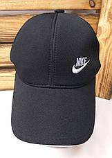 Мужская кепка в стиле Nike (копия) черного цвета, лакоста, сезон весна-лето, малая вышивка, на резинке, фото 2