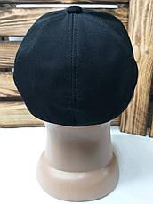 Мужская кепка в стиле Nike (копия) черного цвета, лакоста, сезон весна-лето, малая вышивка, на резинке, фото 3